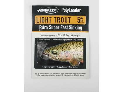 Airflo Light Trout 5ft PolyLeader Clear Hover