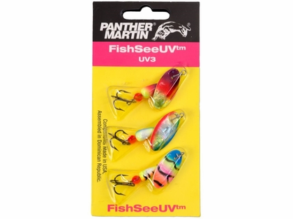 Panther Martin FishSeeUV 3-Pack Spinner Kit