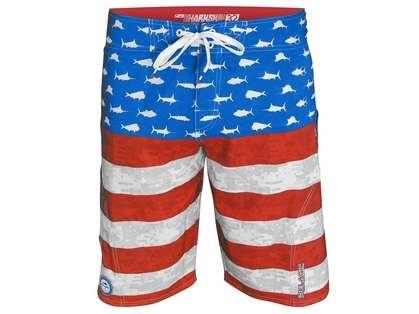 Pelagic Americamo Sharkskin Boardshorts - Size 34