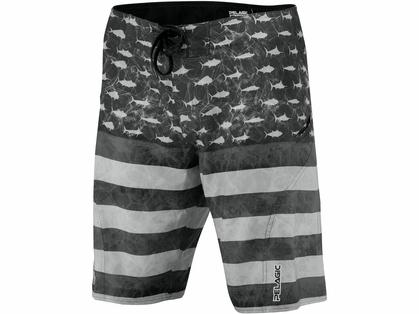 Pelagic Americamo Sharkskin Boardshort - Grey