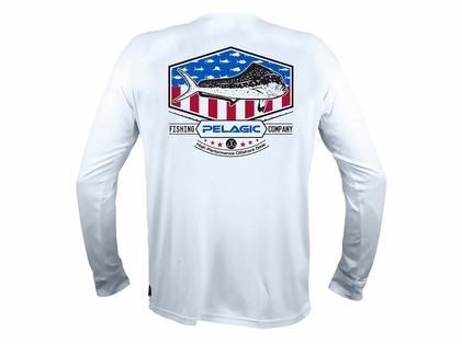 1328faa66480 Pelagic Aquatek Patriotic Series Long Sleeve Shirts - TackleDirect