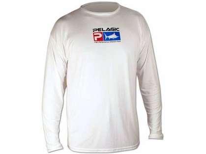 Pelagic AquaTek Long Sleeve Shirt White