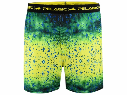 Pelagic Proform Boxers - Psycho Dorado Green - Large