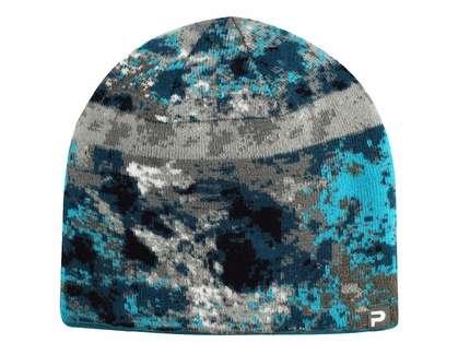 Pelagic Reversible Beanie - Coral Camo Blue