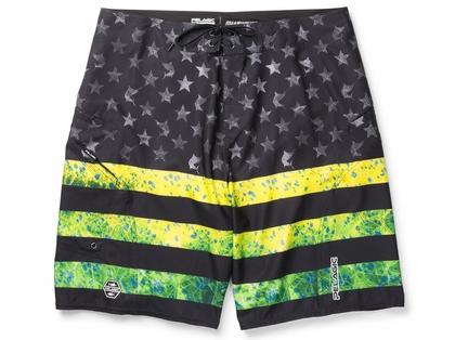 Pelagic Sharkskin 2.0 Americamo Boardshort - Dorado Green