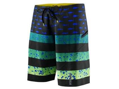 Pelagic Sharkskin Americamo Boardshort - Green