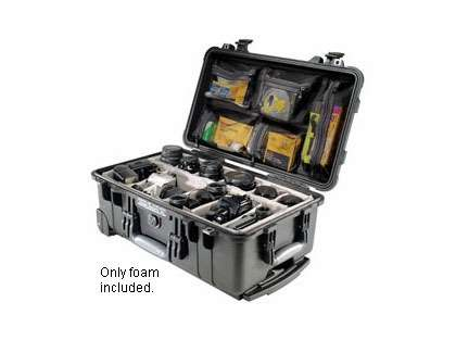 Pelican 1510 Carry-On Case With Foam Black