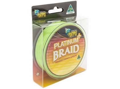 Platypus Platinum Plus Braid Line - 15 lb X 300 yd - High Vis Lime
