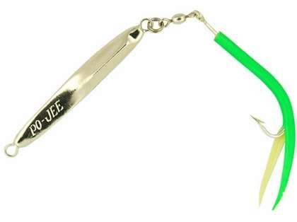 Point Jude Lures Pojee Tube Tail 2.5 oz - Fluorescent Green Tail
