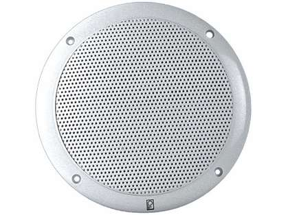 Poly-Planar Performance MA4055 Two-Way White 5in Round Speakers (Pair)