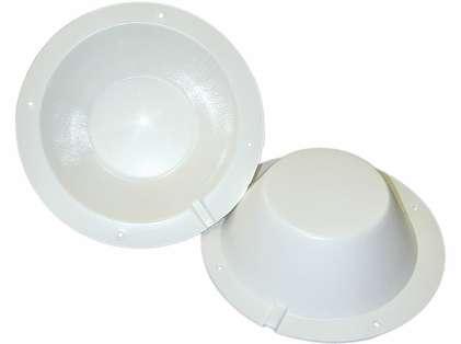 Poly-Planar 8-1/2in Speaker Back Cover - White