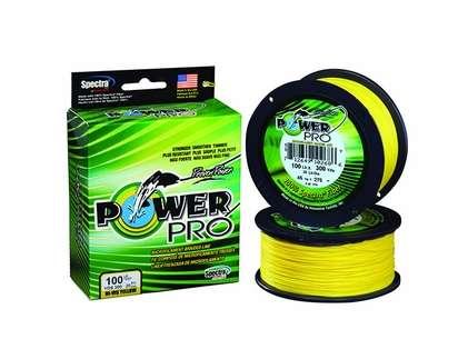 PowerPro Braided Spectra Fiber Fishing Line Hi-Vis Yellow 100 Yds