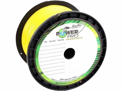 PowerPro Braided Spectra Fiber Fishing Line Hi-Vis Yellow 1500 Yds.