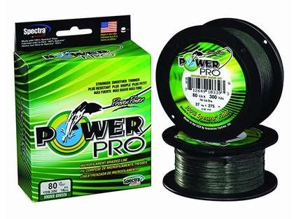 PowerPro Braided Spectra Fiber Fishing Line Moss Green 8LB 100 Yds
