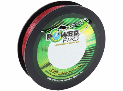 PowerPro Braided Spectra Fiber Fishing Line - Vermilion Red - 300yds