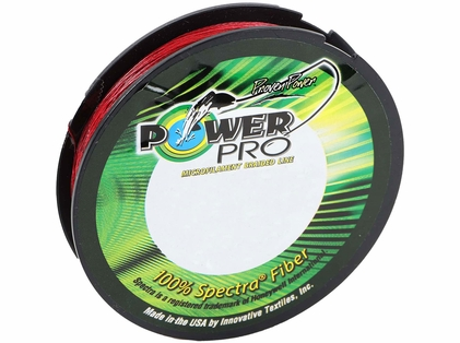 PowerPro Braided Spectra Fiber Fishing Line Vermilion Red 30LB 150 Yds