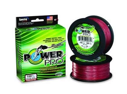 PowerPro Braided Spectra Fiber Fishing Line - Vermilion Red -  500yds.