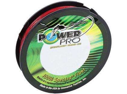 PowerPro Braided Spectra Fiber Fishing Line Vermilion Red 65LB 150 Yds
