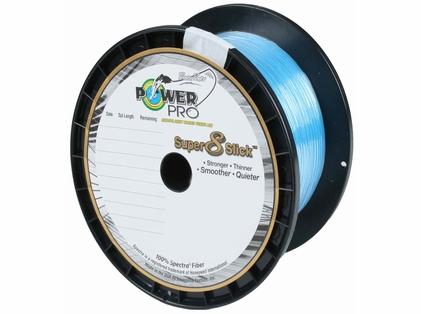 PowerPro Super Slick Braided Line 15lb 1500yds Marine Blue