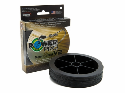 PowerPro Super Slick V2 Braided Line 8lb 150yds - Onyx