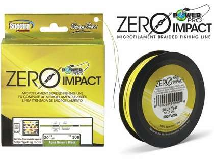 PowerPro Zero-Impact Braided Fishing Line 50lb 500yds Aqua Green