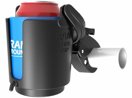 RAM Tough-Claw Mount w/ Self-Leveling Cup Holder
