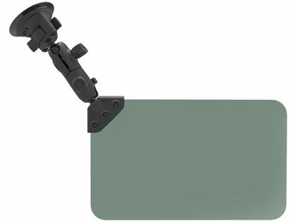 RAM Suction Cup Mount w/ Dark Green Sun Visor - 50% Tint