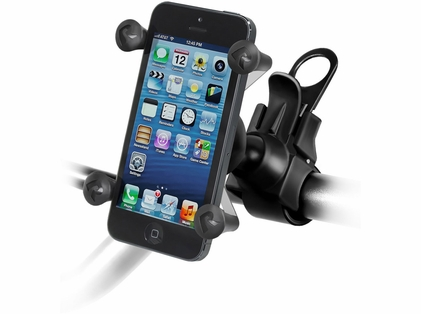 RAM EZ-Strap Rail Mount w/ Universal X-Grip Cell Phone Holder