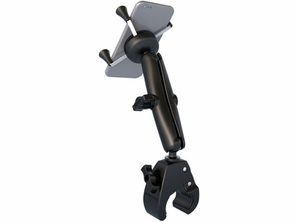 RAM Mounts Tough-Claw Base w/ Long Double Socket Arm & Universal X-Grip Cradle