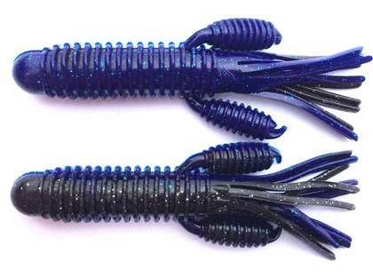 Reins Craw Tube Lure - Black Blue Laminate Silver
