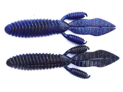 Reins Punchin Predator Lure - Black/Blue Laminate Silver