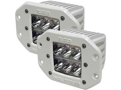 Rigid Industries 71211 Marine D2 Flush Mount Wide Pair