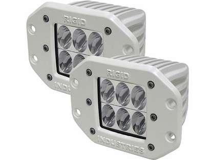 Rigid Industries 71231 Marine D2 Flush Mount Driving LED Pair