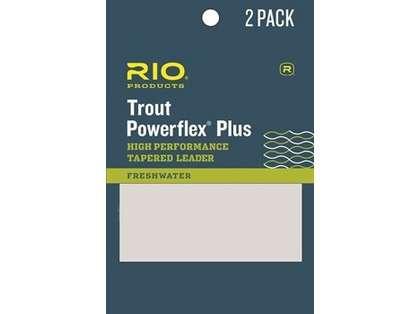 RIO 6-24403 Powerflex Plus Leader - 7.5ft - 4X - 2-Pack