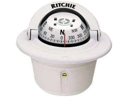 Ritchie F-50W Explorer Compass - Flush Mount - White