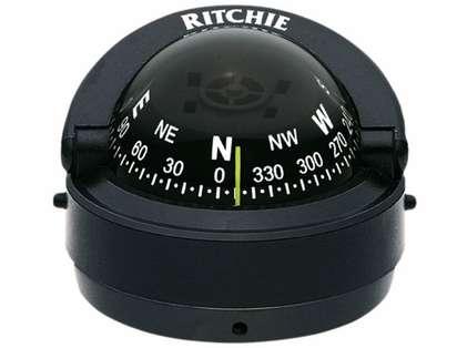 Ritchie S-53-CLM Explorer Compass - Surface Mount - Black