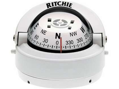Ritchie S-53-WCLM Explorer Compass - Surface Mount - White