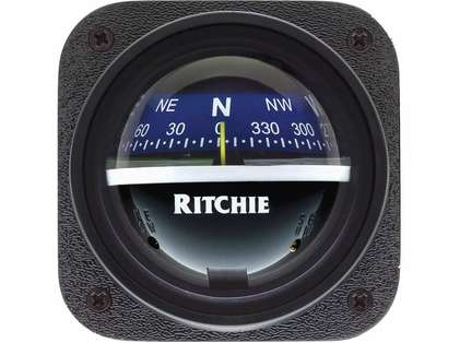 Ritchie V-537B Explorer Bulkhead Mount Compass - Blue Dial