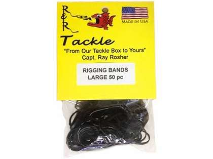 R&R RBL50 Black Rigging Bands 50pk Large