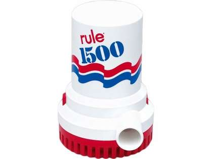 Rule 1500 Non-Automatic 12v Electric Submersible Bilge Pump