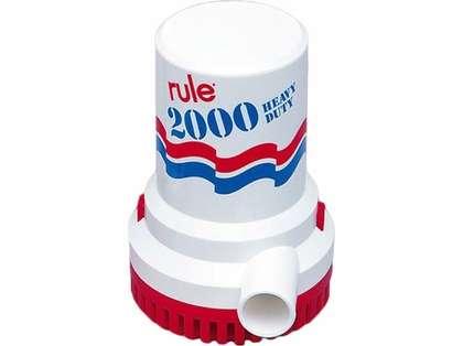 Rule 2000 Non-Automatic 12v Electric Submersible Bilge Pump