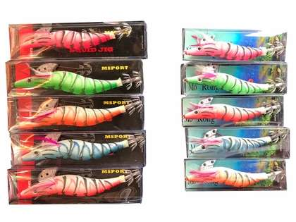 Run Off Lures Glow Tip Squid Jig Variety Pack - Small