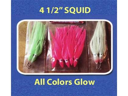 Run Off Lures Rigged Squid 4.5in 2pk