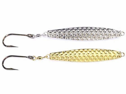 Runoff Hammered Diamond Jig - 6oz - Chrome w/ Red Tail
