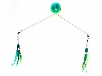 Runoff Lure Spreader Bar 3oz Green/White