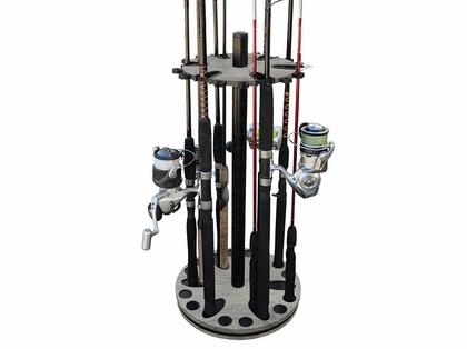 Rush Creek Creations 24 Rod Spinning Storage Floor Racks