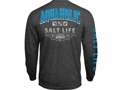339a04d61fe0 Salt Life Aquaholic Icons Long Sleeve T-Shirts - TackleDirect