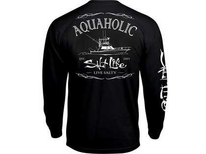 Salt life aquaholic long sleeve t shirt black xl for Salt life long sleeve fishing shirts
