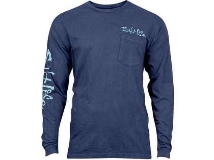 Salt life daily catch salt wash long sleeve t shirt l for Salt life long sleeve fishing shirts