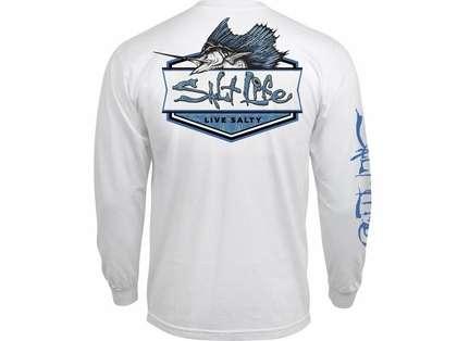 Salt life sailfish badge long sleeve t shirt m for Salt life long sleeve fishing shirts